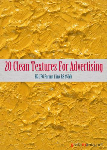 20 Clean Textures for Advertising