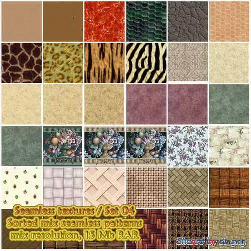 Seamless textures / Set 04 - Sorted patterns (6 subsets)