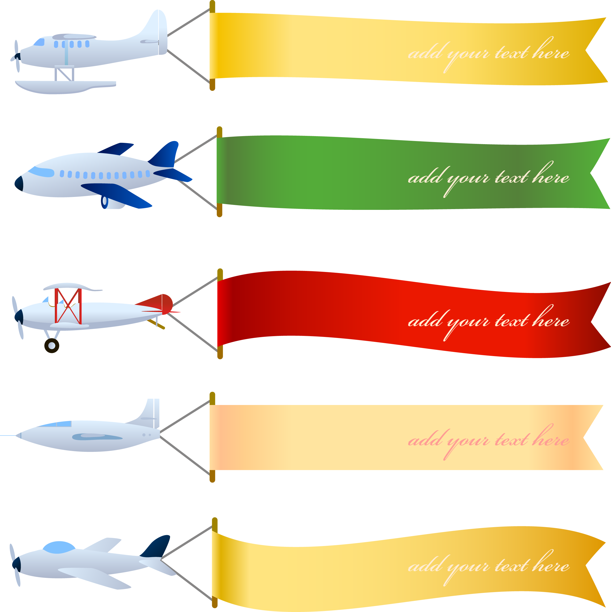 Airplane with banner area