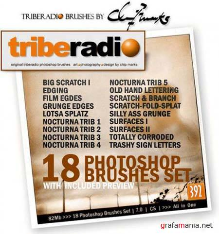 Triberadio Photoshop Brushes - Full Collection