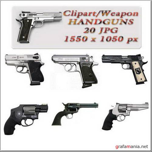 Clipart / Weapon / Handguns