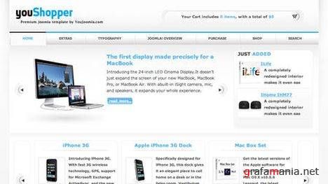 YT Youshopper - E-commerce Joomla Template