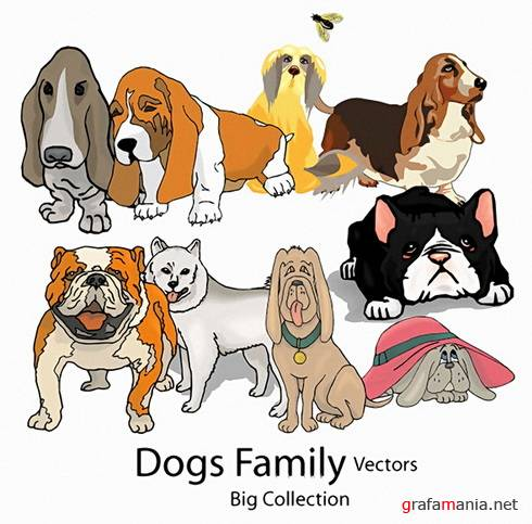 Dogs Family Vectors