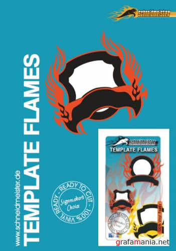 Template Flames in vector