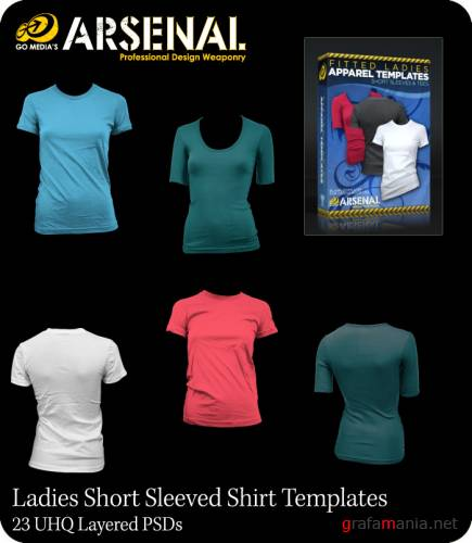 Go Media's ARSENAL - Ladies Short Sleeved Shirt Templates