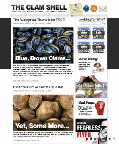 The Clam Shell - Free Wordpress Theme