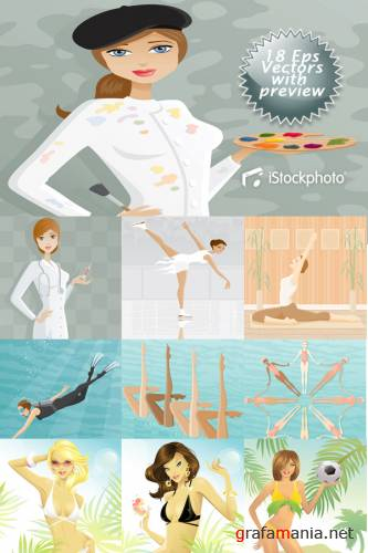 iStockphoto Women Vectors Collection