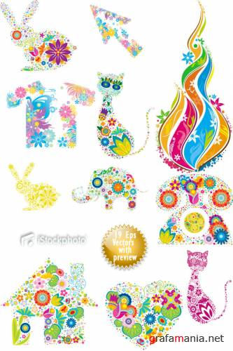 iStockphoto Flowering Shapes Collection