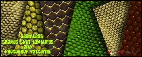 Seamless Snakes Skin Textures and Photoshop Patterns