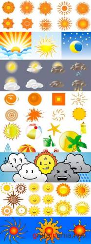 Sun and weather vectors