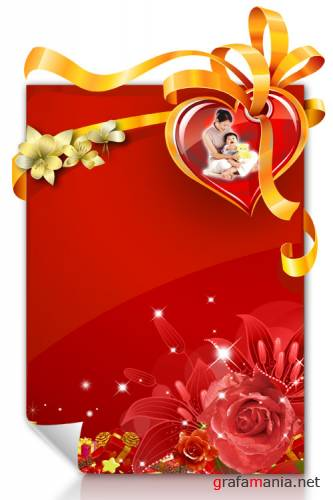Happy Love PSD template