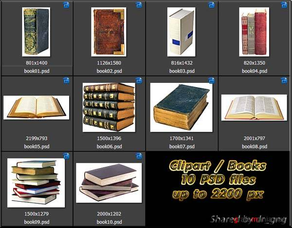 Clipart / Items / Book PSD