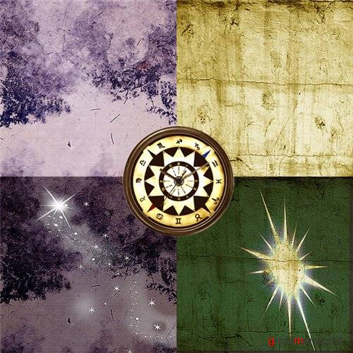 ����� ����� - Gold and Purple Stars freebie kit