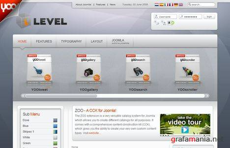 YT Level Joomla Template