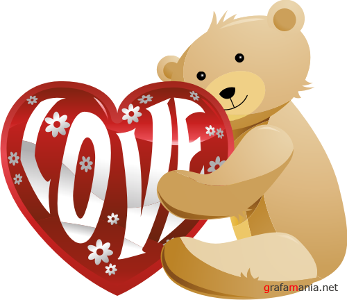 Teddy bears with Hearts