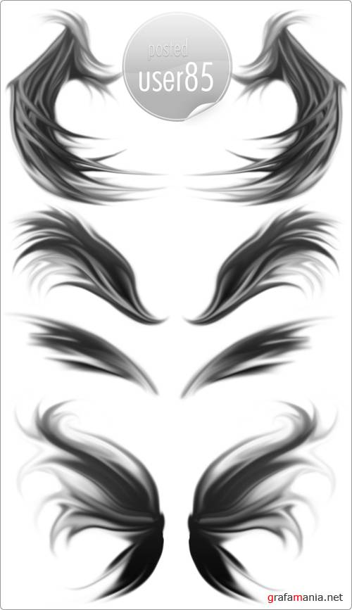 Кисти для Photoshop - Wings Brushes