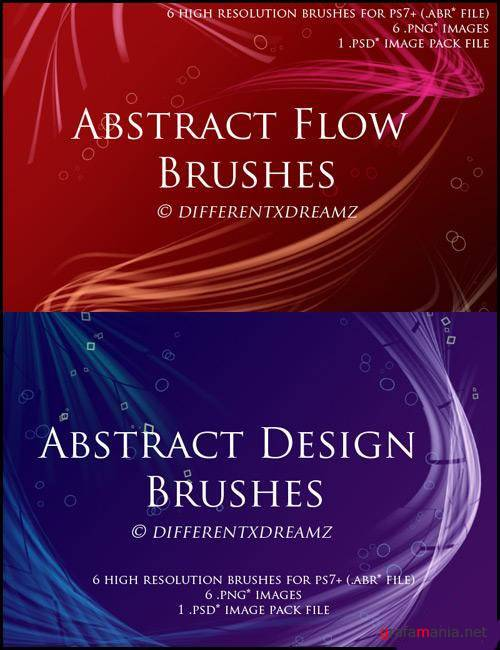 Abstract Flow&Design Brushes