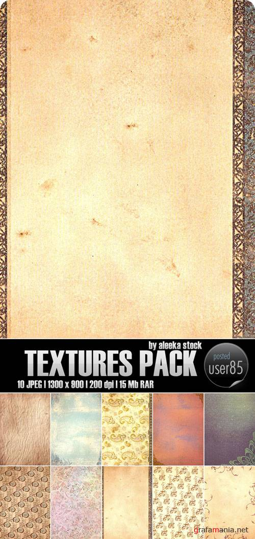 Текстуры - Textures Pack by aleeka stock