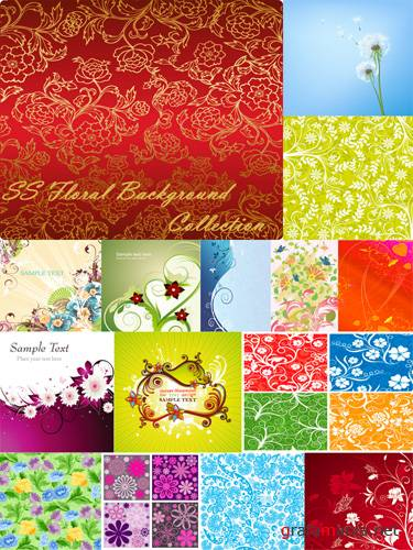 SS Floral Background collection