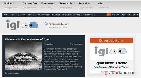 Igloo News 2.0 - Free Wordpress Theme