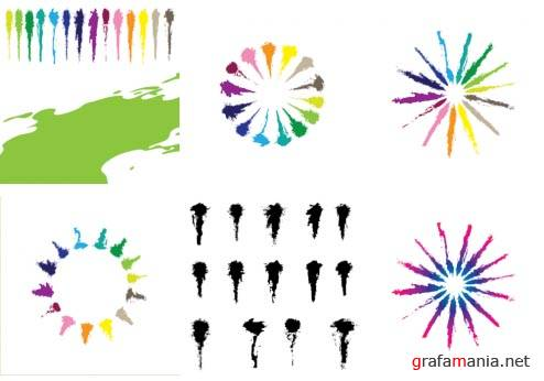 Paint Strokes Design Vector