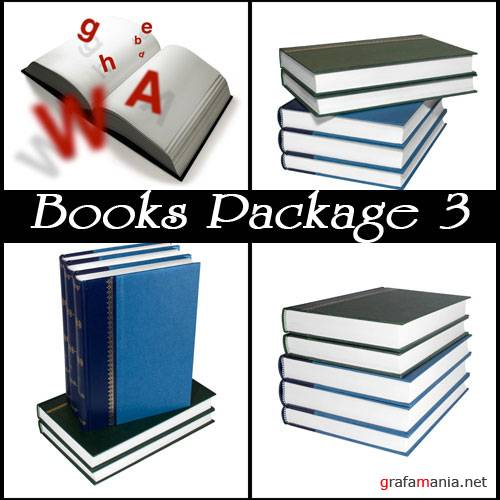 Фотоклипарт - Books Packsge