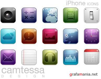 iPhone glass icons