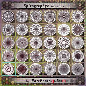 Spirography Flowers brushes