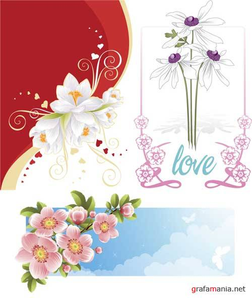 Flowers vector clipart