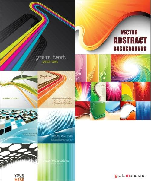 20 Abstract Vector Backgrounds