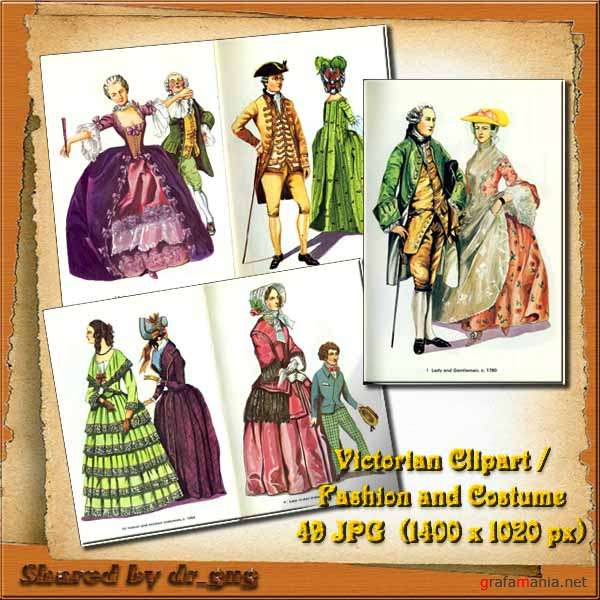 Victorian Clipart / Fashion and Costume
