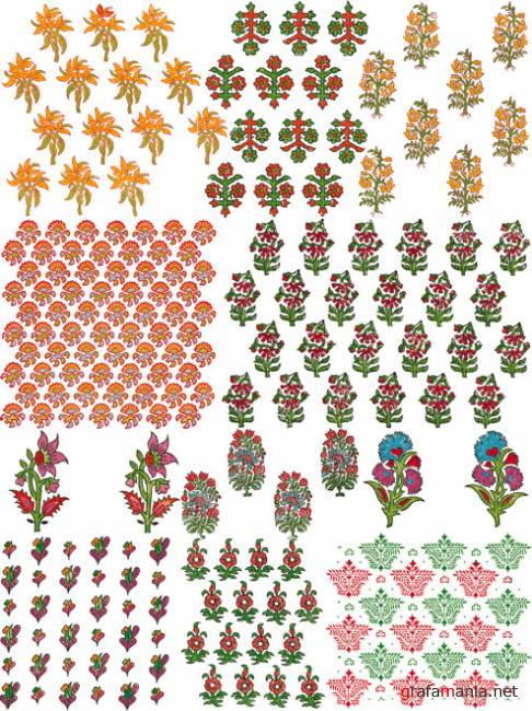Ornaments and patterns 17   Орнаменты и узоры 17
