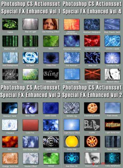 Ultimate Photoshop Special FX Action Set