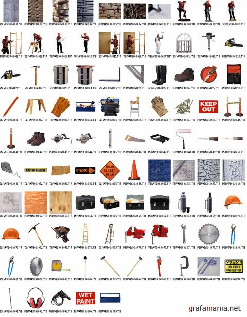Construction Objects and Backgrounds