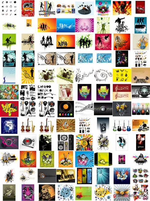 Music Vectors MEGACOLLECTION