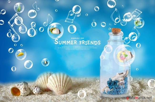Summer Friends PSD