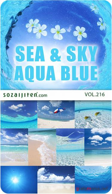 Datacraft Sozaijiten Vol.216 - Sea and Sky - Aqua Blue
