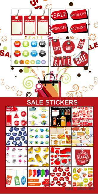 ��������� ������� � Vector Sale Stickers