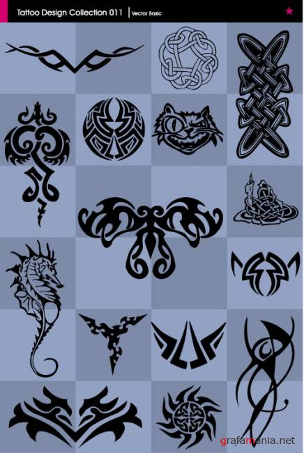 Vector Tattoo Design Collection