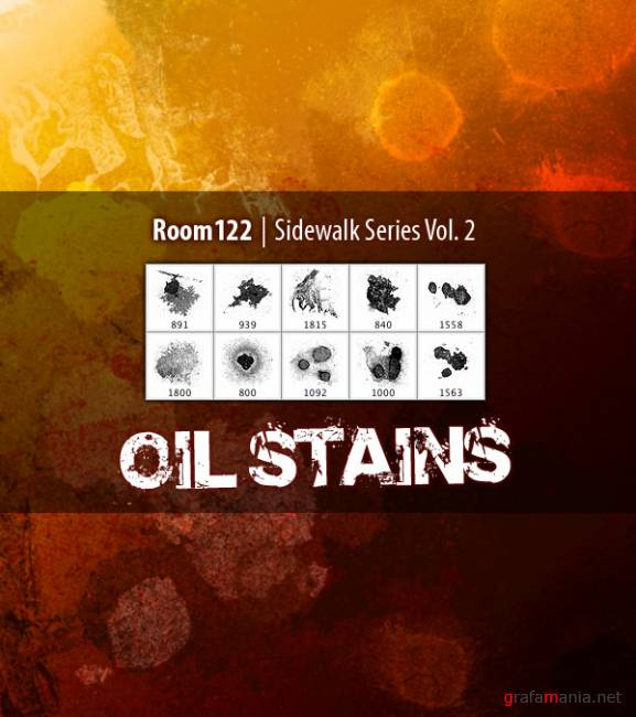 Oil Stains Photoshop Brush Set