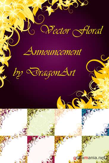 Vector Floral Announcement by DragonArt