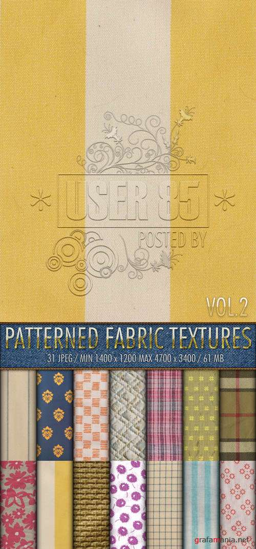 Текстуры - Patterned Fabric Textures #2