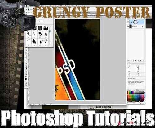Grungy Poster in Photoshop