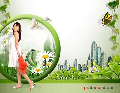 Green Sity PSD template