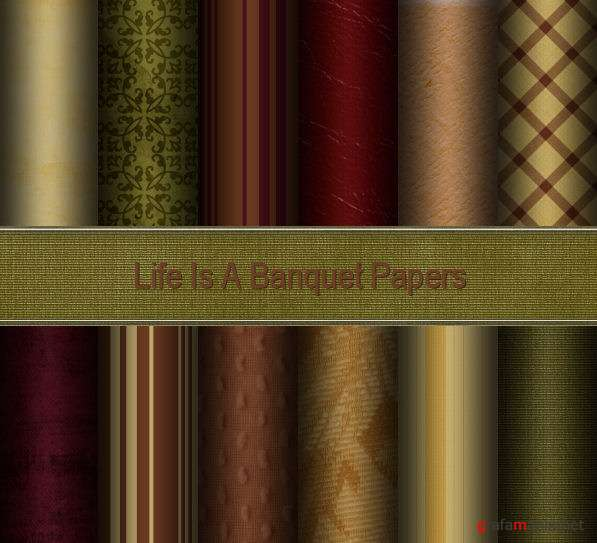 "Скрап ""Life Is A Banquet"""