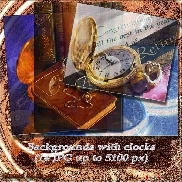 Clipart / BackGrounds with Clock (14 HQ JPG)