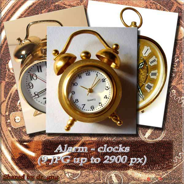 Clipart / clock / Alarm Clocks (9 HQ JPG)