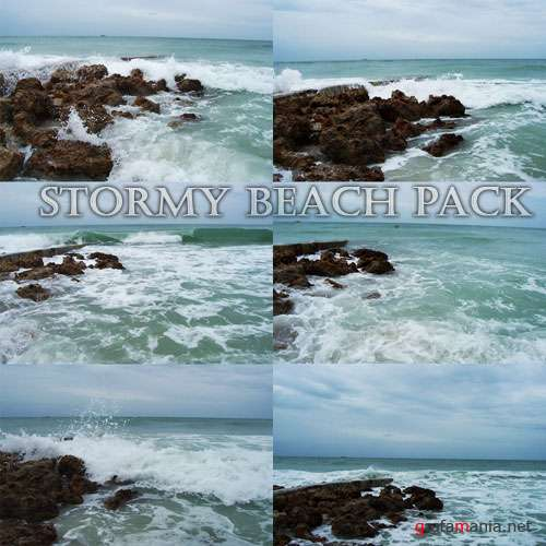 Фотоклипарт - stormy beach pack