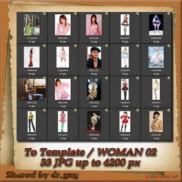 Cliparts / People / Woman to Template 02