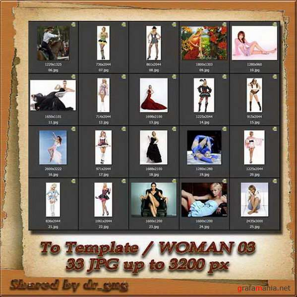 Cliparts / people / Woman to Template 03